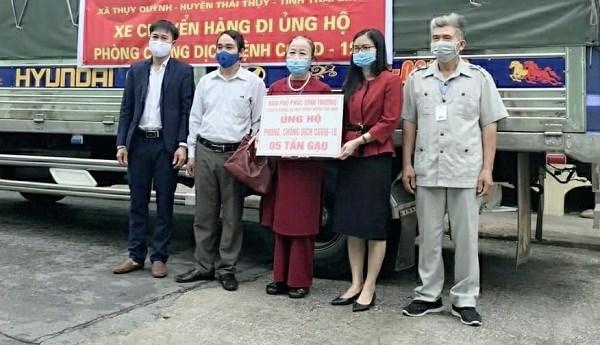 Thái Bình: Người dân ủng hộ 5 tấn gạo phòng, chống dịch Covid-19