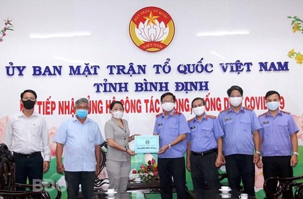 Bình Định: Nhiều đơn vị ủng hộ công tác phòng, chống dịch Covid-19