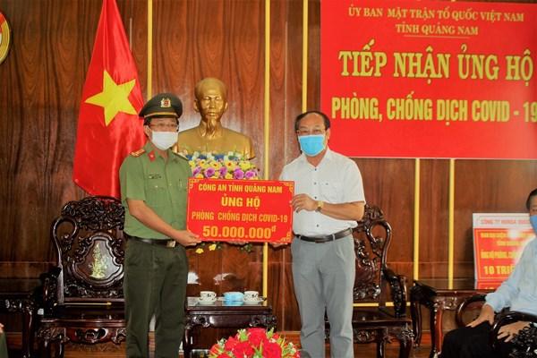 Mặt trận Tổ quốc tỉnh Quảng Nam tiếp nhận 345 triệu đồng ủng hộ phòng, chống dịch Covid-19