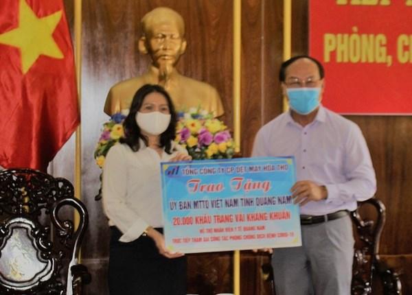 Quảng Nam tiếp nhận hơn 3,4 tỷ đồng để phòng, chống dịch