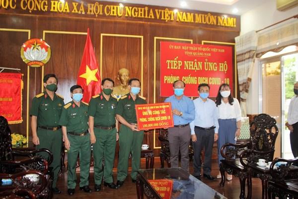 Mặt trận Quảng Nam, Quảng Trị tiếp nhận kinh phí phòng, chống dịch Covid-19