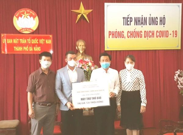 Mặt trận TP Đà Nẵng tiếp nhận đợt 3 ủng hộ phòng, chống dịch Covid-19