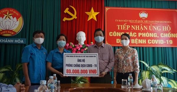 Mặt trận Khánh Hòa tiếp nhận ủng hộ phòng, chống dịch Covid-19