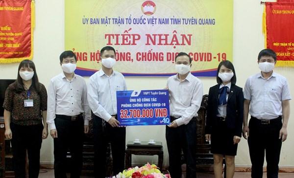 Tuyên Quang: Tiếp nhận 7,4 tỷ đồng ủng hộ phòng chống dịch Covid – 19