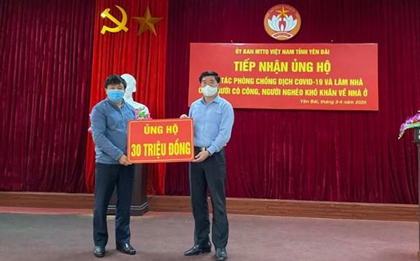 Ủy ban Mặt trận Tổ quốc tỉnh Yên Bái đã tiếp nhận ủng hộ và đăng ký ủng hộ gần 7,7 tỷ đồng