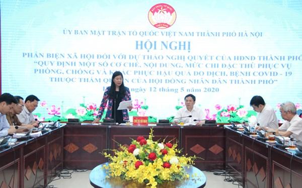 Ủy ban MTTQ TP Hà Nội: Phản biện mức chi đặc thù trong phòng, chống dịch Covid-19
