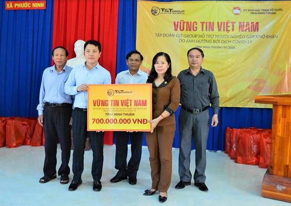 Ninh Thuận: Tiếp nhận 700 triệu đồng ủng hộ người nghèo gặp khó khăn do ảnh hưởng của dịch Covid-19