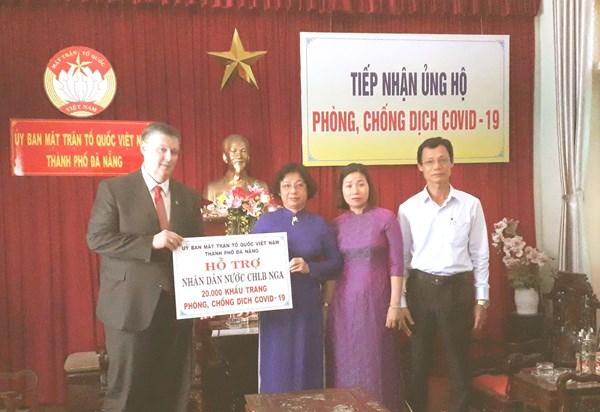 Đà Nẵng: Trao ủng hộ Liên bang Nga 20.000 khẩu trang y tế