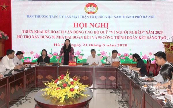 Hà Nội: Phấn đấu xây dựng Quỹ 'Vì người nghèo' 3 cấp đạt 30 tỷ đồng