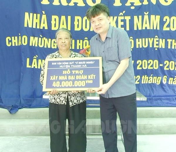 """Ủy ban MTTQ huyện Thanh Hà (Hải Dương): Hỗ trợ xây dựng 11 nhà """"Đại đoàn kết"""""""