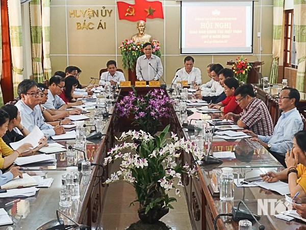 Ủy ban MTTQ Việt Nam tỉnh Ninh Thuận: Hội nghị giao ban công tác Mặt trận quý II-năm 2020