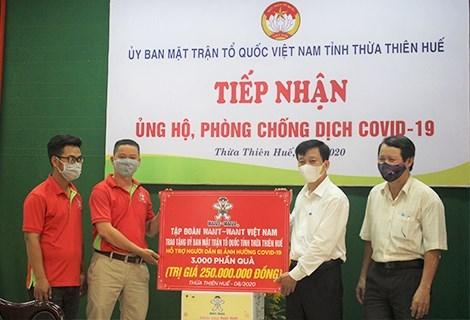 Thừa Thiên-Huế: Tiếp nhận 300 phần quà hỗ trợ phòng, chống dịch