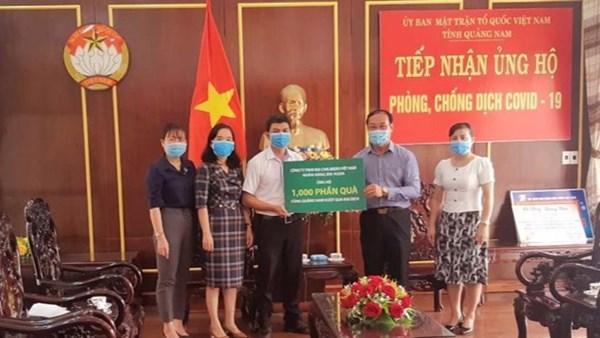 Ủy ban MTTQ tỉnh Quảng Nam tiếp nhận 1.000 suất quà hỗ trợ phòng, chống dịch