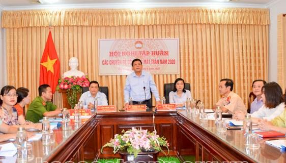 Ủy ban MTTQ Việt Nam tỉnh Sóc Trăng: Tập huấn trực tuyến chuyên đề công tác Mặt trận năm 2020