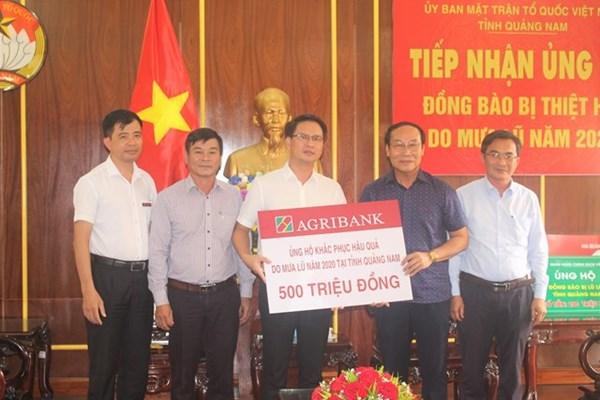 Ủy ban Mặt trận Tổ quốc tỉnh Quảng Nam tiếp nhận 700 triệu đồng ủng hộ đồng bào bị mưa lũ