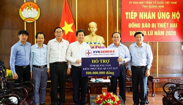 Ủy ban MTTQ tỉnh Quảng Nam tiếp nhận ủng hộ đồng bào miền Trung khắc phục hậu quả lũ lụt