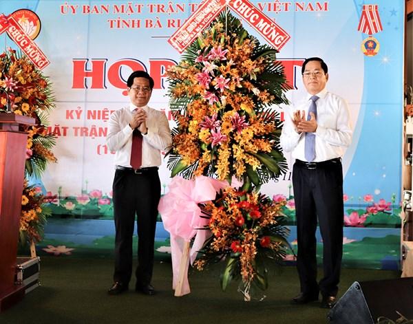 Ủy ban MTTQ tỉnh Bà rịa – Vũng Tàu, Hà Nam tổ chức Họp mặt kỷ niệm 90 năm Ngày thành lập Mặt trận Dân tộc Thống nhất Việt Nam