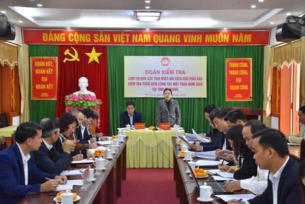 Ban Thường trực UBTƯ MTTQ Việt Nam kiểm tra công tác Mặt trận tại Hà Giang