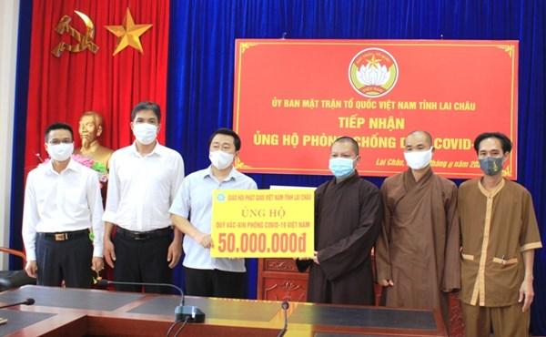 Giáo hội Phật giáo Việt Nam tỉnh Lai Châu ủng hộ phòng chống dịch bệnh Covid-19