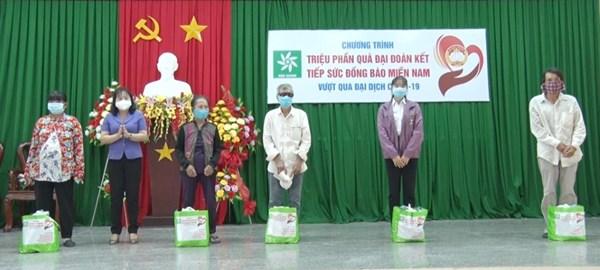 Ủy ban MTTQ Việt Nam tỉnh Hậu Giang:Trao 583 phần quà đại đoàn kết