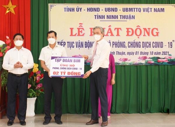 """Ninh Thuận: Lễ phát động """"Tiếp tục vận động ủng hộ phòng, chống dịch COVID-19"""""""