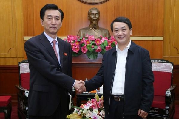 Tăng cường quan hệ hữu nghị, hợp tác Việt Nam - Triều Tiên