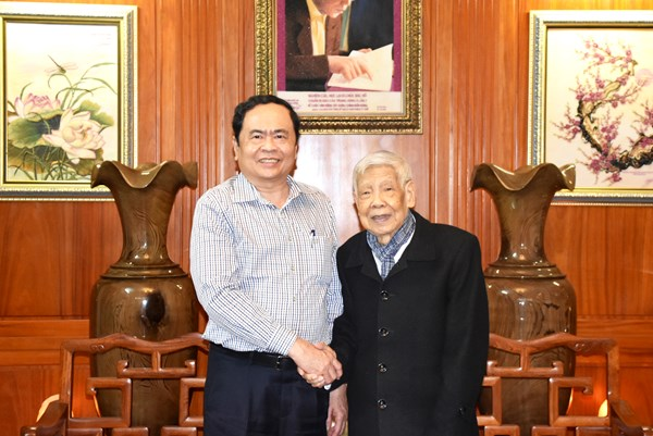 Chủ tịch Trần Thanh Mẫn chúc Tết nguyên lãnh đạo Đảng, Nhà nước