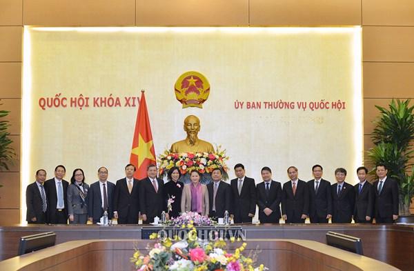 Chủ tịch Quốc hội tiếp các Đại sứ, Trưởng cơ quan đại diện Việt Nam ở nước ngoài
