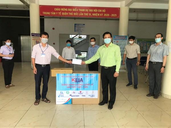 Hội Chuyên Gia Trí thức Việt Nam-Hàn Quốc (VKEIA) thăm hỏi và hỗ trợ Y Bác sỹ tại Trung tâm y tế quận Thủ Đức