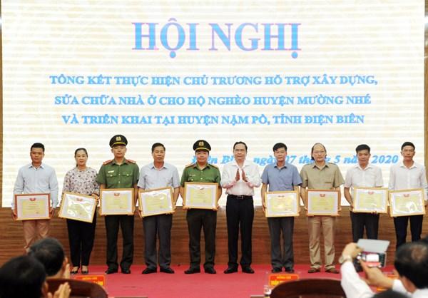 Hội nghị tổng kết hỗ trợ xây dựng, sửa chữa nhà ở cho các hộ nghèo của huyện Mường Nhé, tỉnh Điện Biên