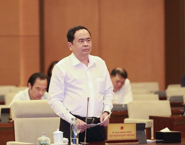 Ủy ban Thường vụ Quốc hội góp ý vào dự thảo Báo cáo tổng hợp ý kiến, kiến nghị của cử tri và Nhân dân