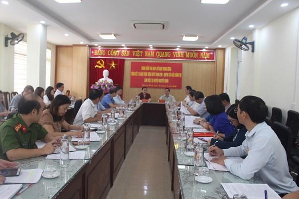 Đoàn kiểm tra BCĐ Trung ương tổng kết Quyết định số 290-QĐ/TW làm việc với huyện ủy Nguyên Bình