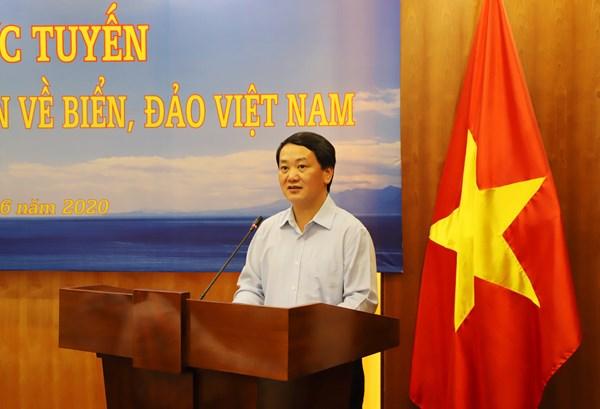 Hội nghị trực tuyến tập huấn, cung cấp thông tin về biển, đảo Việt Nam