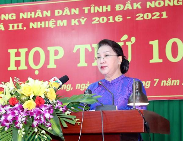 Chủ tịch Quốc hội Nguyễn Thị Kim Ngân dự Kỳ họp thứ Mười, HĐND tỉnh Đắk Nông nhiệm kỳ 2016- 2021