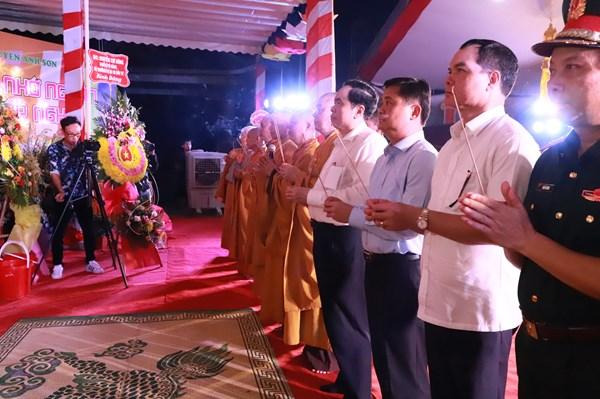 Đại lễ cầu siêu tại Nghĩa trang Liệt sỹ Quốc tế Việt – Lào