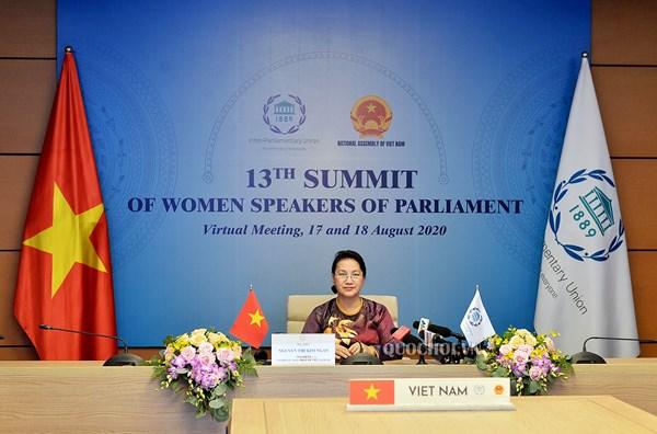 Chủ tịch Quốc hội dự Hội nghị thượng đỉnh các nữ Chủ tịch Quốc hội thế giới