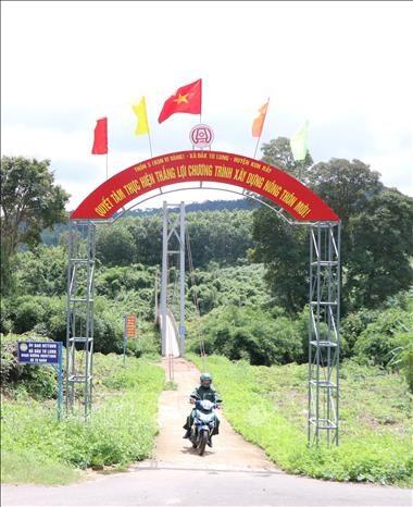 Xã đặc biệt khó khăn đầu tiên tại tỉnh Kon Tum đạt chuẩn nông thôn mới