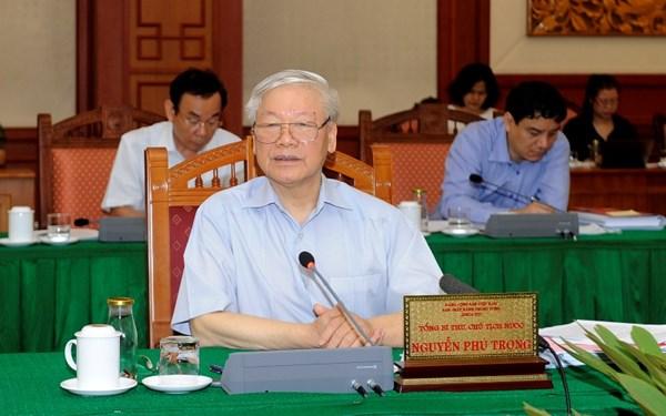 Bộ Chính trị làm việc với các đảng bộ trực thuộc Trung ương