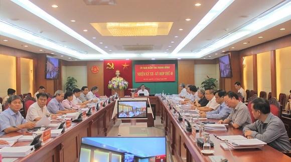 Ủy ban Kiểm tra Trung ương đề nghị, thi hành kỷ luật một số cán bộ