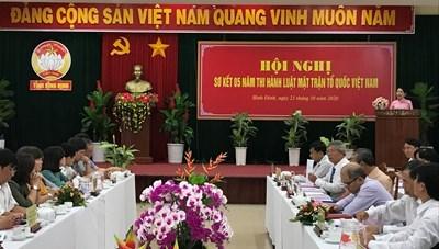 Mặt trận Bình Định sơ kết 5 năm thi hành Luật MTTQ Việt Nam