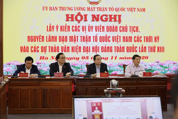 Đoàn Chủ tịch UBTƯ MTTQ Việt Nam góp ý vào các dự thảo văn kiện Đại hội Đảng toàn quốc lần thứ XIII