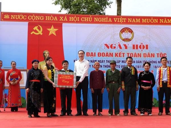 Ấm áp Ngày hội Đại đoàn kết toàn dân tộc tại xã Điềm Mặc