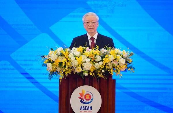 Tổng Bí thư, Chủ tịch nước Nguyễn Phú Trọng: Định vị chỗ đứng phù hợp cho ASEAN hậu COVID-19 là vấn đề lớn