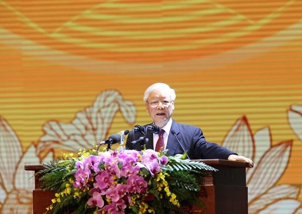 Toàn văn bài diễn văn của Tổng Bí thư, Chủ tịch nước Nguyễn Phú Trọng tại Lễ kỷ niệm 90 năm Ngày thành lập Mặt trận Dân tộc Thống nhất Việt Nam - Ngày truyền thống Mặt trận Tổ quốc Việt Nam