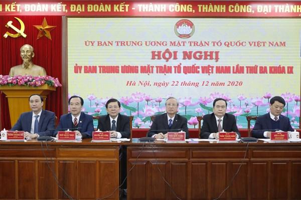 Hội nghị Ủy ban Trung ương MTTQ Việt Nam lần thứ ba, khóa IX