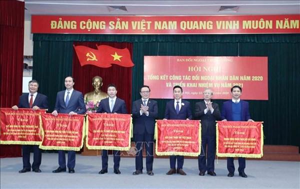 Ủy ban Trung ương MTTQ Việt Nam là một trong 5 tập thể dẫn đầu trong công tác đối ngoại nhân dân năm 2020