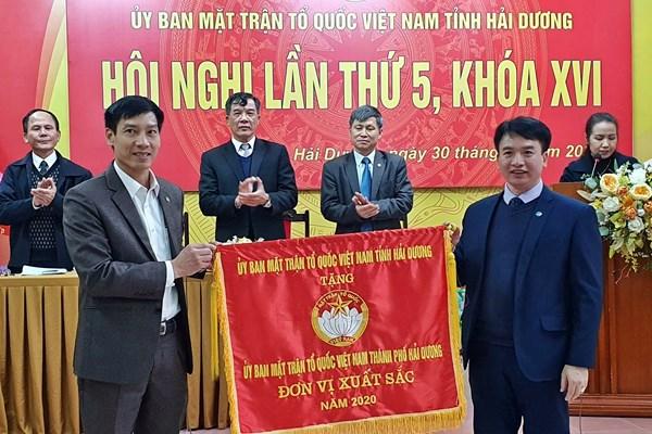 Ủy ban MTTQ Việt Nam tỉnh Hải Dương tổng kết công tác Mặt trận năm 2020