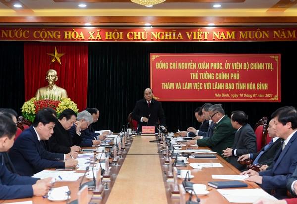 Thủ tướng gợi mở hướng phát triển cho tỉnh Hòa Bình