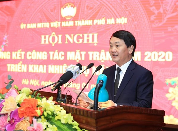 Mặt trận Hà Nội đón nhận Huân chương Lao động hạng Ba