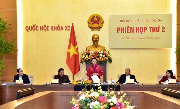 Chủ tịch Trần Thanh Mẫn dự Phiên họp thứ hai của Hội đồng Bầu cử quốc gia